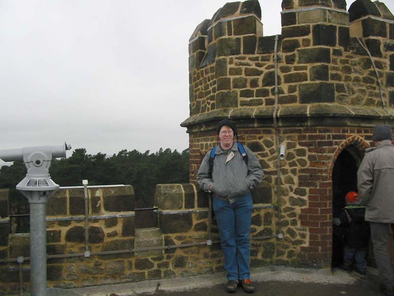 Stephen on top of Leith Hill tower