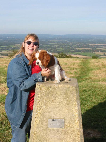 Lucy and Henry on top of Ditchling Beacon