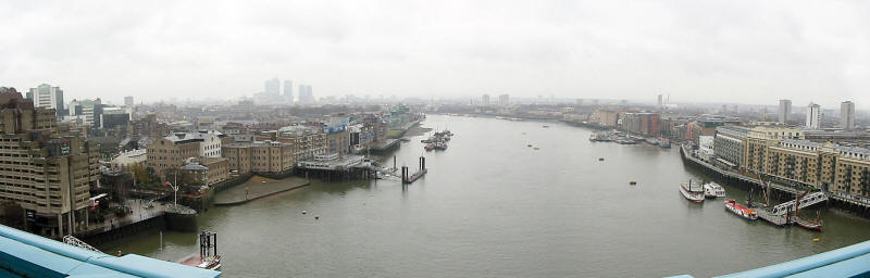 London's Docklands from Tower Bridge