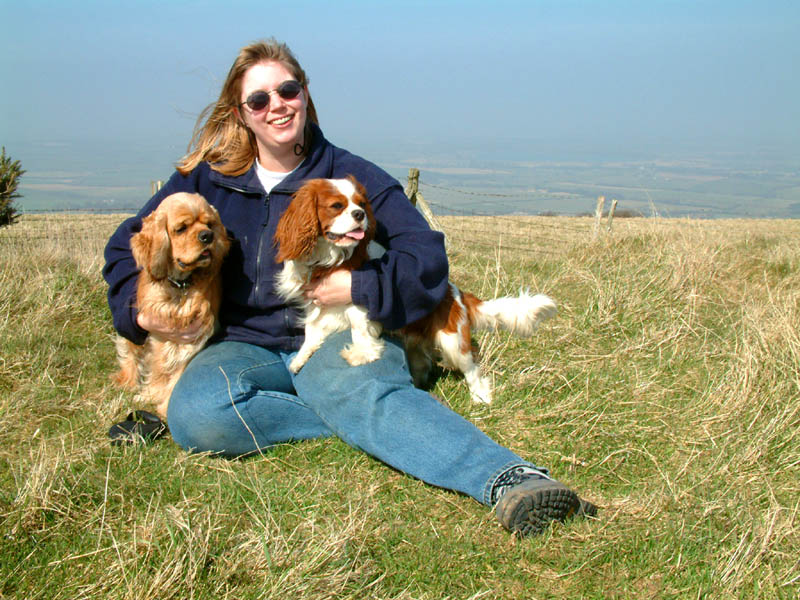 Lucy George and Henry on Wilminton Hill