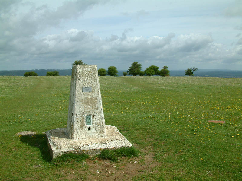 Summit of Butser Hill near Petersfield in Hampshire