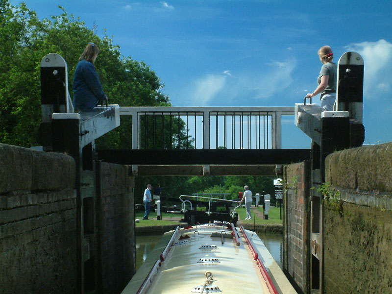 Lock gates, Grand Union Canal, Watford