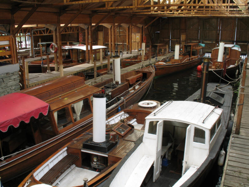 steam boats at Windermere Steamboats and Museum