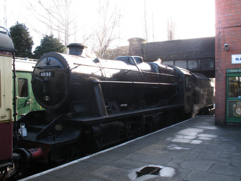 Locomotive 48188 at Loughborough Central on the Great Central Railway