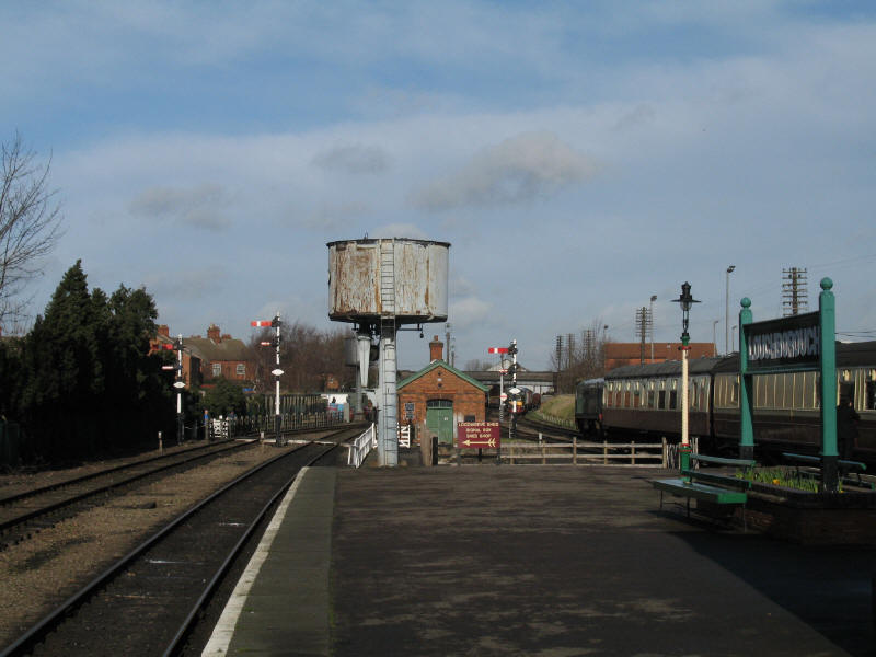 Water tower at Loughborough Central on the Great Central Railway