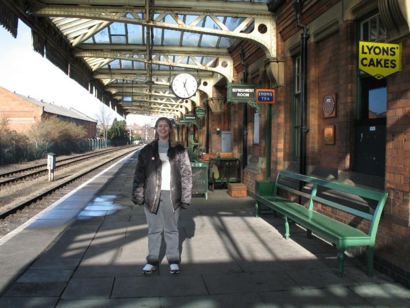 Lucy on Platform 2 at Loughborough Central on the Great Central Railway