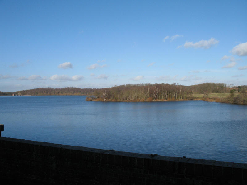 Swithland Reservoir from Swithland viaduct, Great Central Railway
