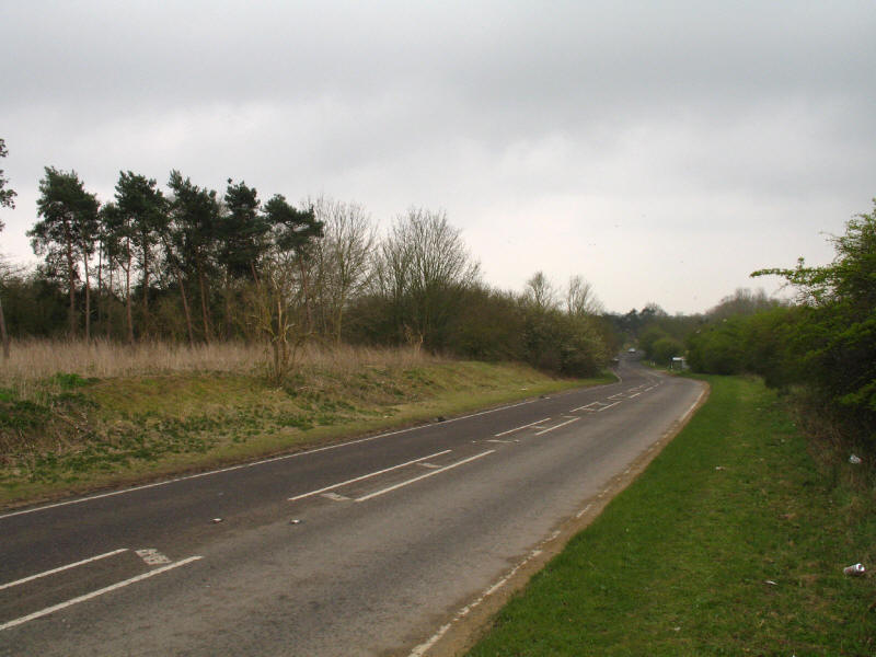 A1060 Hallingbury Road just south of Bishop's Stortford