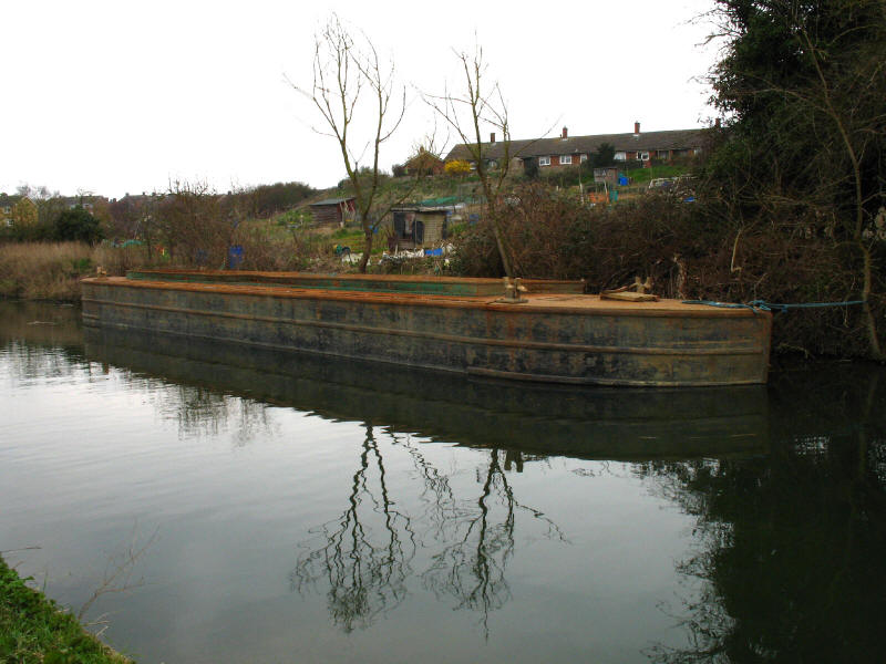 barge on River Stort, Sawbridgeworth