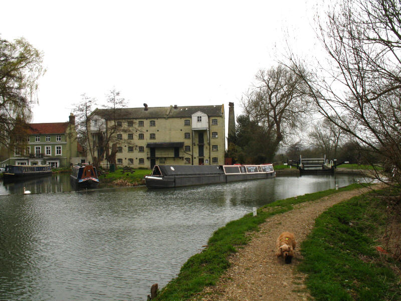 Parndon Mill and Parndon Lock on the River Stort