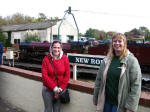 Sara and Lucy at New Romney on the Romney, Hythe and Dymchurch Railway