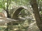 Kelefos Bridge on the Diarizos river in the Paphos Forest, Cyprus