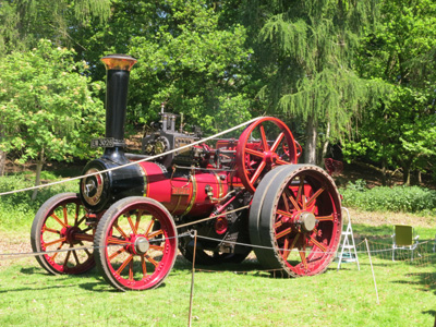 A steam engine at the annual Woolpit Steam festival