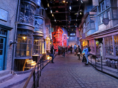 Diagon Alley at the Harry Potter studio