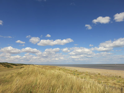The beach at Sizewell on the Suffolk Coast Path