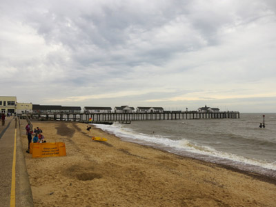 The beach and pier at Southwold on the Suffolk Coast Path