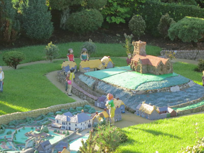 The model of the model of the model at the Godshill model village during a week on the Isle of Wight