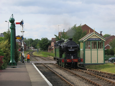 Great Northern Railway Class N2 Number 1744 at Dereham on the Mid-Norfolk Railway