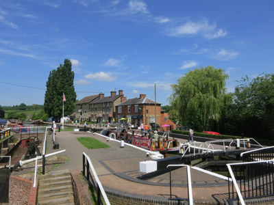 Working boats at Stoke Bruerne