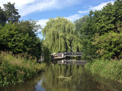 The lock and weir on the River Chess branch of the Grand Union Canal in Rickmansworth