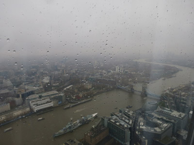 HMS Belfast from The Shard